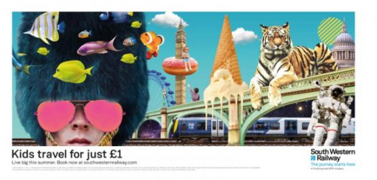 South Western Railway: Live Big, 1 Print Ad by WCRS