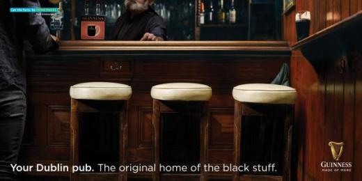 Guinness: Stools Print Ad by Irish International BBDO Dublin