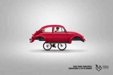 Fundacion Monica Licona: Bike, 1 Print Ad by Cerebro Y&R Panama