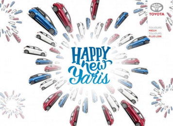 Toyota Yaris: Happy New Yaris Print Ad by Zone Bleue DDB