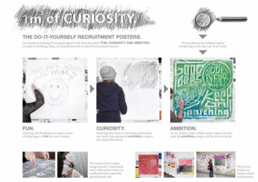 Serviceplan Group: 1M2 OF CURIOSITY. THE DO-IT-YOURSELF RECRUITMENT POSTERS. Design & Branding by Serviceplan Hamburg