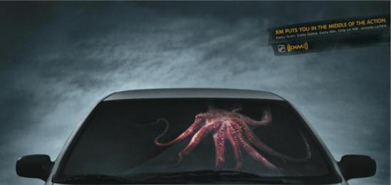Xm: Octopus Print Ad by Saatchi & Saatchi Toronto
