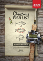Honda Marine: Christmas Fishlist Print Ad by 10 Feet Tall