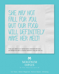 Magnum Opus The Restaurant: Make Her Melt Print Ad by Black Sheep