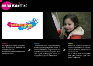 Young Director Award (YDA): DOUBLE LIFE Direct marketing by Caviar, TBWA\ Helsinki