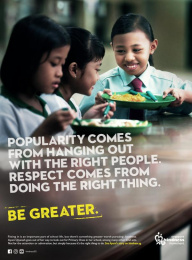 Singapore Kindness Movement: Be Greater Print Ad by 3-Sixty Brand Communications