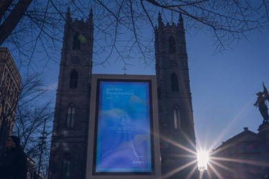 Prohibition: Notre-Dame Basilica Outdoor Advert by BleuBlancRouge Montreal