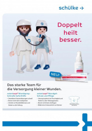 Octenisept Wound Gel: PLAYMOBIL Print Ad by At Sales Essen