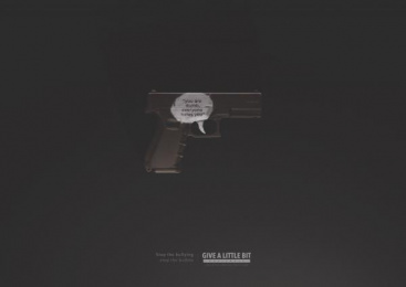 Give A Little Bit: Dumb Print Ad by El Taier DDB Centro