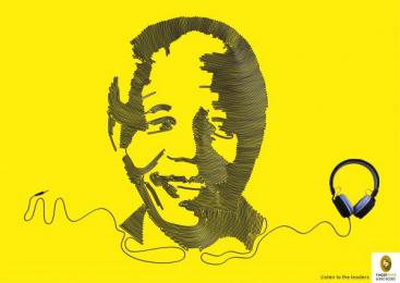 Fingerprint Audio Books: Audio books - Mandela Print Ad by Adfactors Advertising, Contract Advertising India