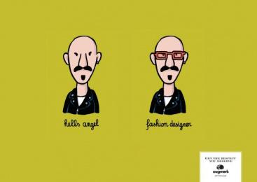 Oogmerk Opticians: Oogmerk Fashion Print Ad by Lg&f