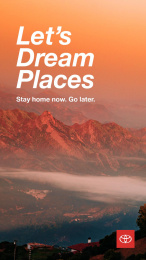 Toyota: Let's Dream Places, 6 Digital Advert by Conill Advertising Los Angeles