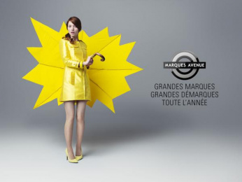 Marques Avenue Factory Outlet: Special offers stickers, Umbrella Print Ad by H.