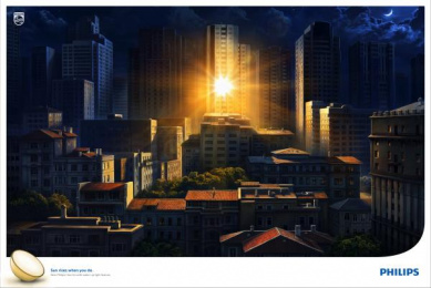 Philips: Sunrise at night Print Ad by Ogilvy & Mather Istanbul