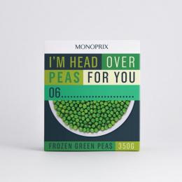 Monoprix: Frozen Green Peas Print Ad by Muscle, Rosapark Paris
