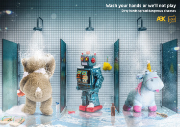 Association of Communication Agencies of Georgia (ACAG): Wash Your Hands Print Ad by ABK communications Tbilisi