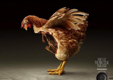 Ammeloo: Chicken Print Ad by Amber China