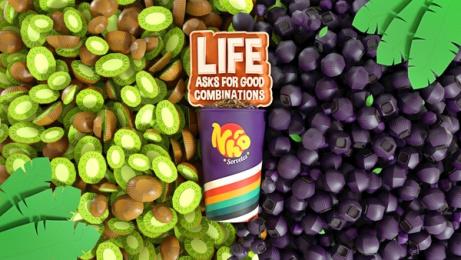 Nhô Sorvetes: Life Asks for Good Combinations - Kiwi and Açaí Print Ad by Maya Brazil
