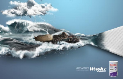 Wypall: Disaster Print Ad by CPC Bogota