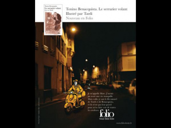 "Folio: ""Tonino Benacquista"" Print Ad by Quelle Belle Journee"