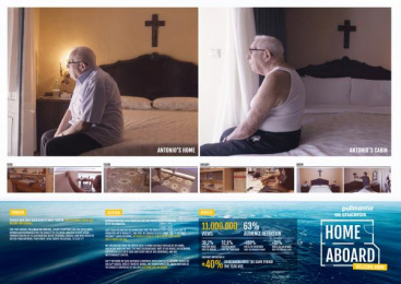 Pullmantur Cruises: HOME ABOARD.Welcome Home. [image] Print Ad by Proximity Madrid
