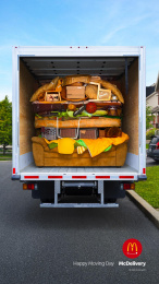 McDonald's: Happy Moving Day: Big Mac Print Ad by Cossette Montreal