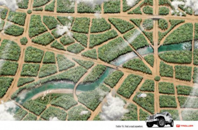 Troller T4: Forest Print Ad by J. Walter Thompson Sao Paulo