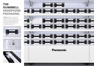 Panasonic: The Dumbbell Headphone Packaging Design & Branding by Scholz & Friends Berlin