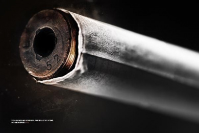 smokefree.gov: The Bullet Print Ad by Team collaboration