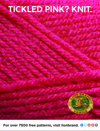 Lion Brand: Tickled Pink? Knit Print Ad by No, No, No, No, No, Yes