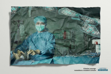 academic tutoring: Surgeon Print Ad by H.