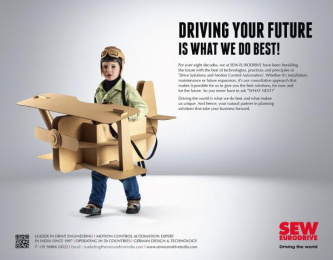 SEW Eurodrive: Driving Your Future Is What We Do Best Print Ad by Bolditalic Bengaluru