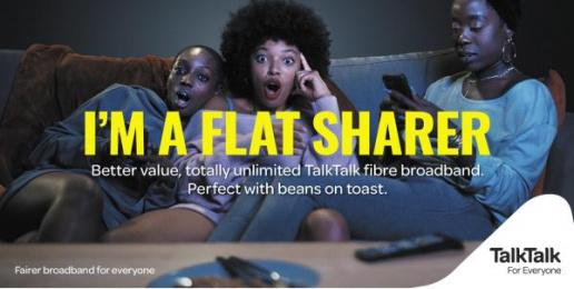 Talktalk: I'm a Flatsharer Print Ad by CHI & Partners London