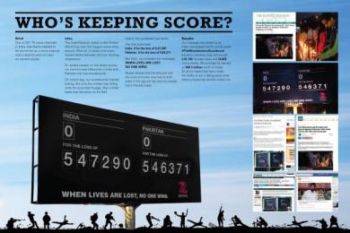 Zee News: The Misunderstood Score Board Outdoor Advert by DDB Mudra Group Mumbai