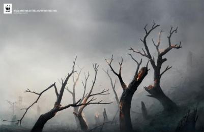 WWF: Burning Tiger Print Ad by PT Harkat Fitrah Mahir (Lotus:H)