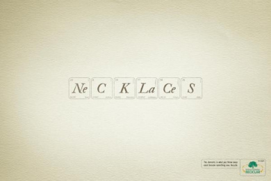 INSTITUTO AMBIENTAL RECICLAR: NECKLACES Print Ad by Age Comunicacoes Sao Paulo