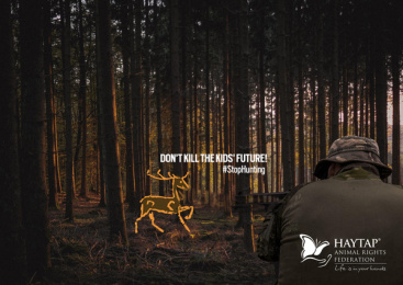 Haytap: Stop Hunting: Deer Print Ad by THEBADGUYS, İstanbul, Turkey