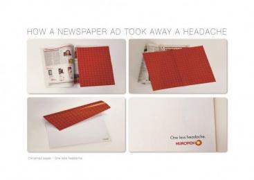 Nurofen: Christmas Wrapping Paper [image] Print Ad by McCann Worldgroup Johannesburg