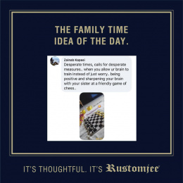 Rustomjee: The Family Time Idea Of The Day, 3 Digital Advert by Ideas@work