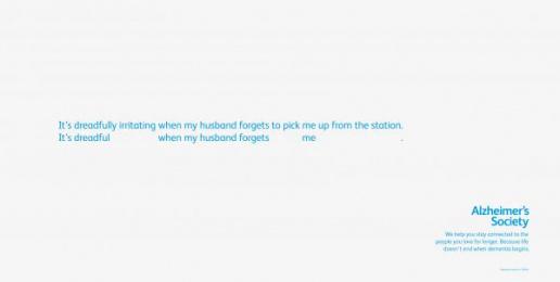 Alzheimer's Society: Fade - Husband Print Ad by Fallon London