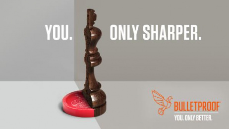 Bulletproof: You. Only Sharper. Print Ad by Will Creative Inc.