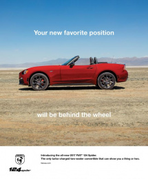 Fiat: Favorite Position Print Ad by FCB Chicago