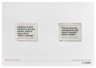 Casa Editorial El Tiempo: Cleavage Print Ad by MullenLowe SSP3 Bogota