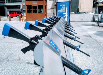 Brady Center to Prevent Gun Violence: Metro Gun Share Installation, 3 Ambient Advert by The Escape Pod