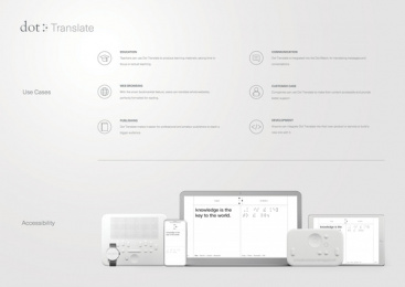Dot Incorporation: Dot Translate. The First Braille Translator Based on AI., 4 Digital Advert by Serviceplan Munich