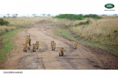 Land Rover: Children Ahead Print Ad by M&C Saatchi Tel-Aviv
