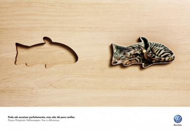 Volkswagen Original Parts: Cat Peixe (eng, spa) [spanish] Print Ad by ALMAP BBDO Brazil