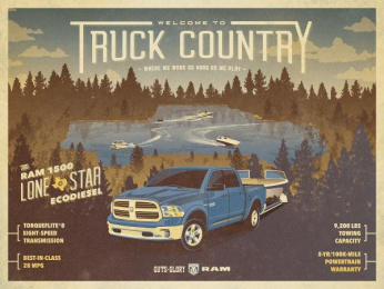 Dodge Ram: Truck Country - boating Print Ad by The Richards Group