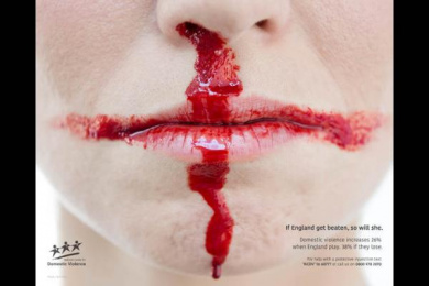 Victim Support/ National Centre for Domestic Violence: The Not-So Beautiful Game Print Ad by J. Walter Thompson London