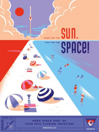 Space Florida: Sun Space Print Ad by Paradise Advertising